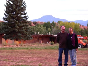 Rob and I at Ghost Ranch...Pedernal in the background