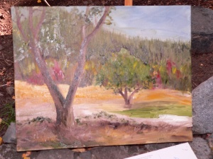 Genesee Valley, oil painting, sold at silent auction at the Heart K Ranch.